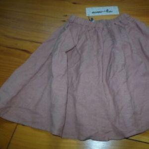 New! AVA & LU 6 yr Dusty Rose Linen Skirt